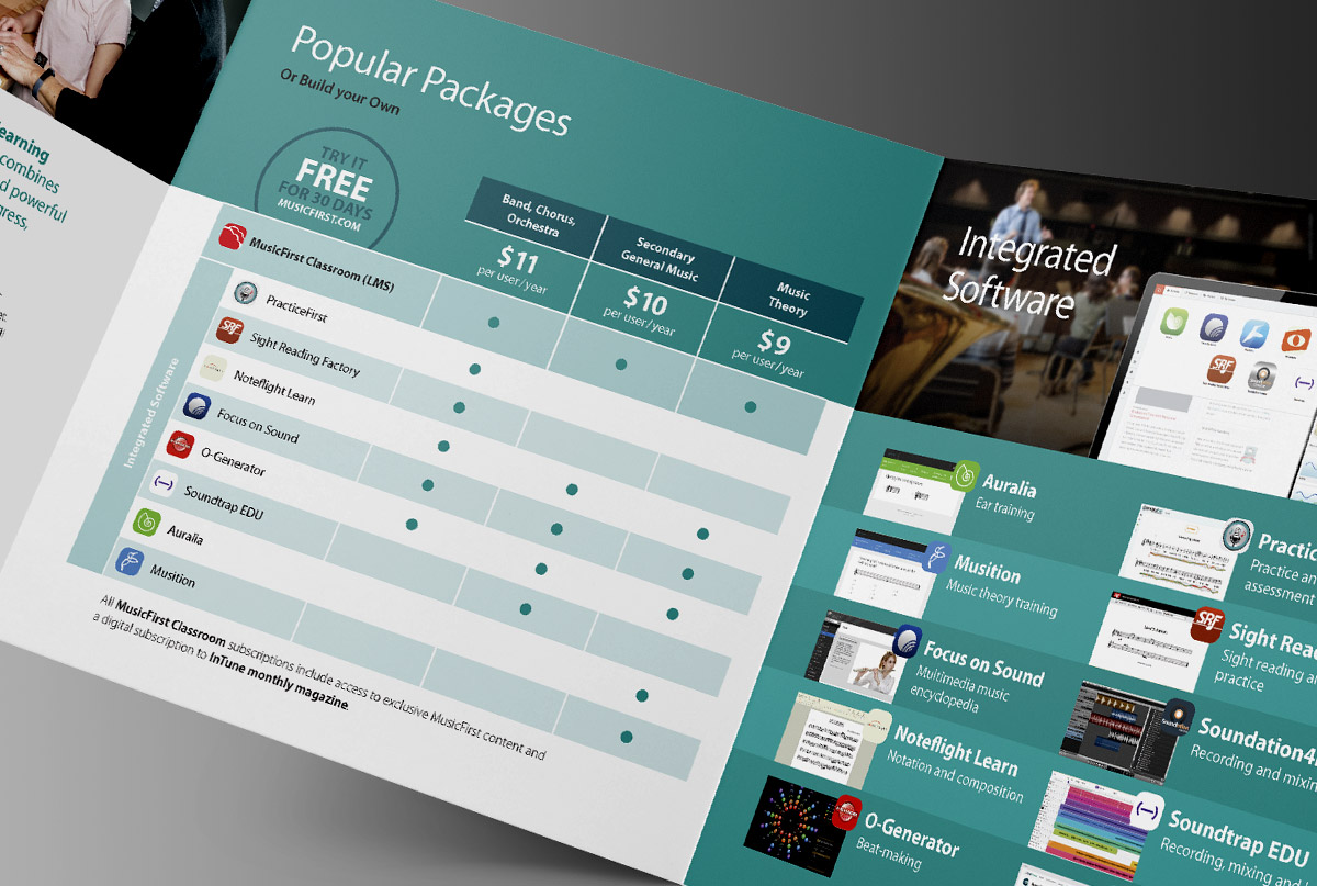 MusicFirst brochure layout