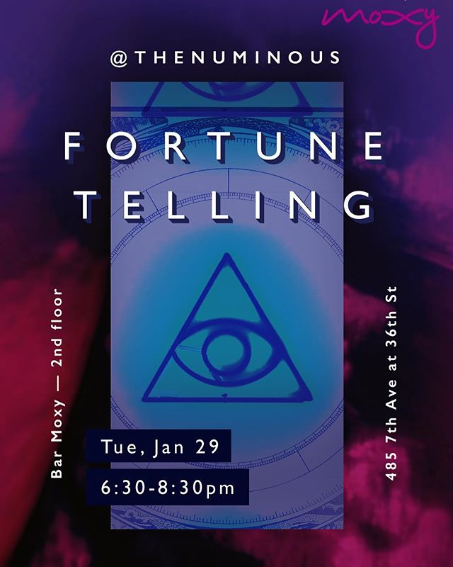 Curious as to what 2019 has in store for you? Join us for tarot card readings and 2019 astrology highlights with @rubywarrington of @the_numinous at @moxytimessquare tonight! 🔮