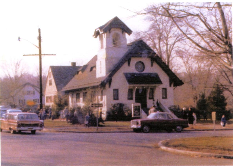 Our Original Church Built in 1908. This photo was taken around 1959.
