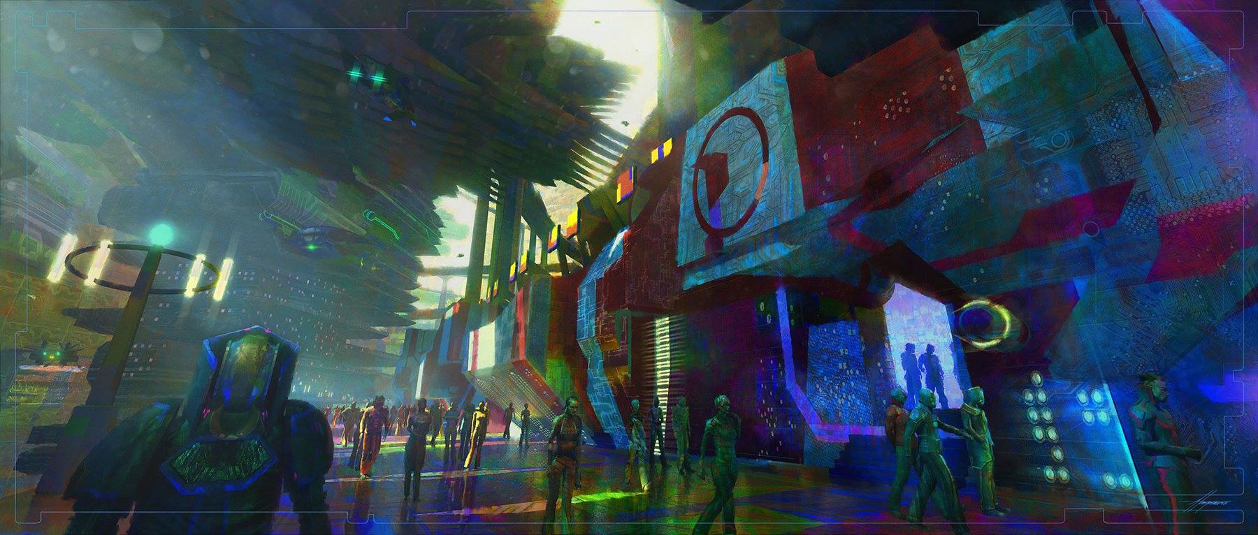 「雷神索爾3:諸神黃昏」中的場景是靠一張張精彩設計稿的堆疊,才能呈現最後讓人讚嘆的世界觀。