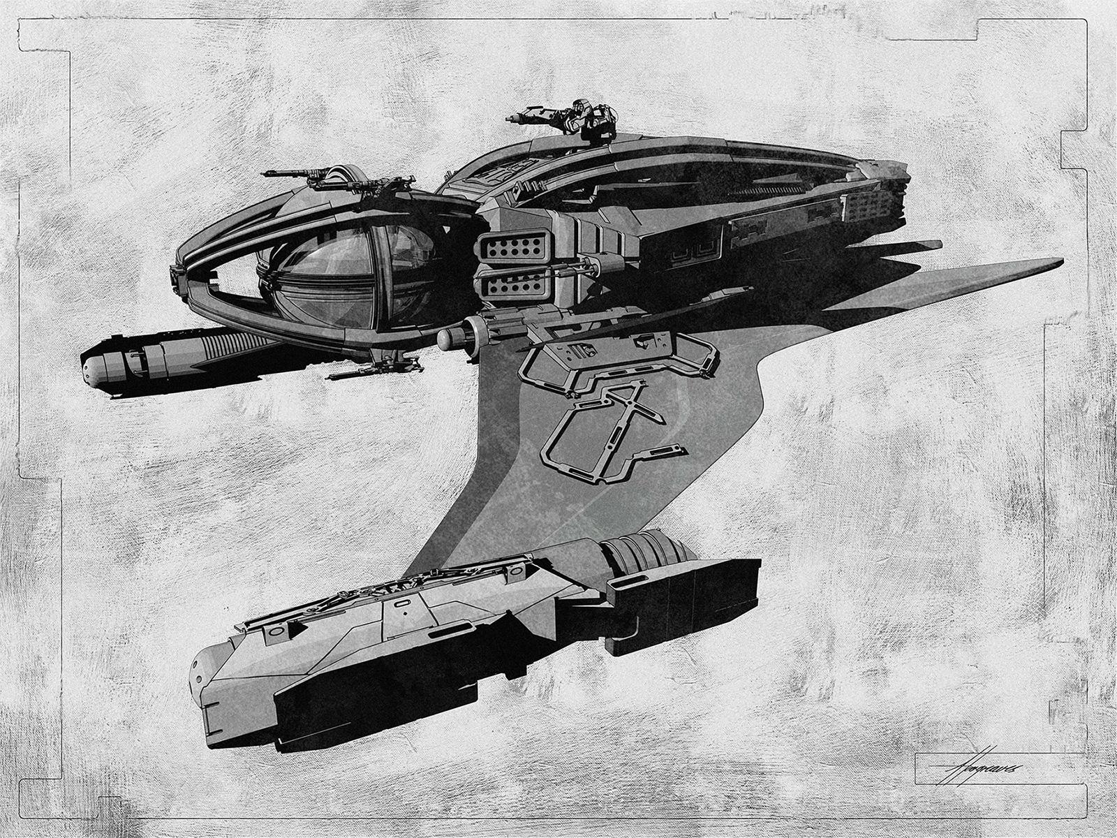 「雷神索爾3:諸神黃昏」裡的太空船設計