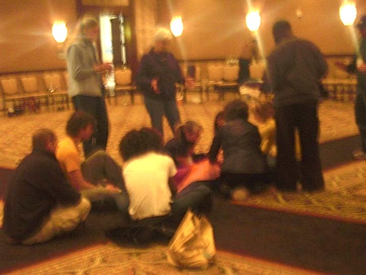*Photo taken by participant as a group of people were gathered around and holding the space while I was being held in the arms of the source of all life.