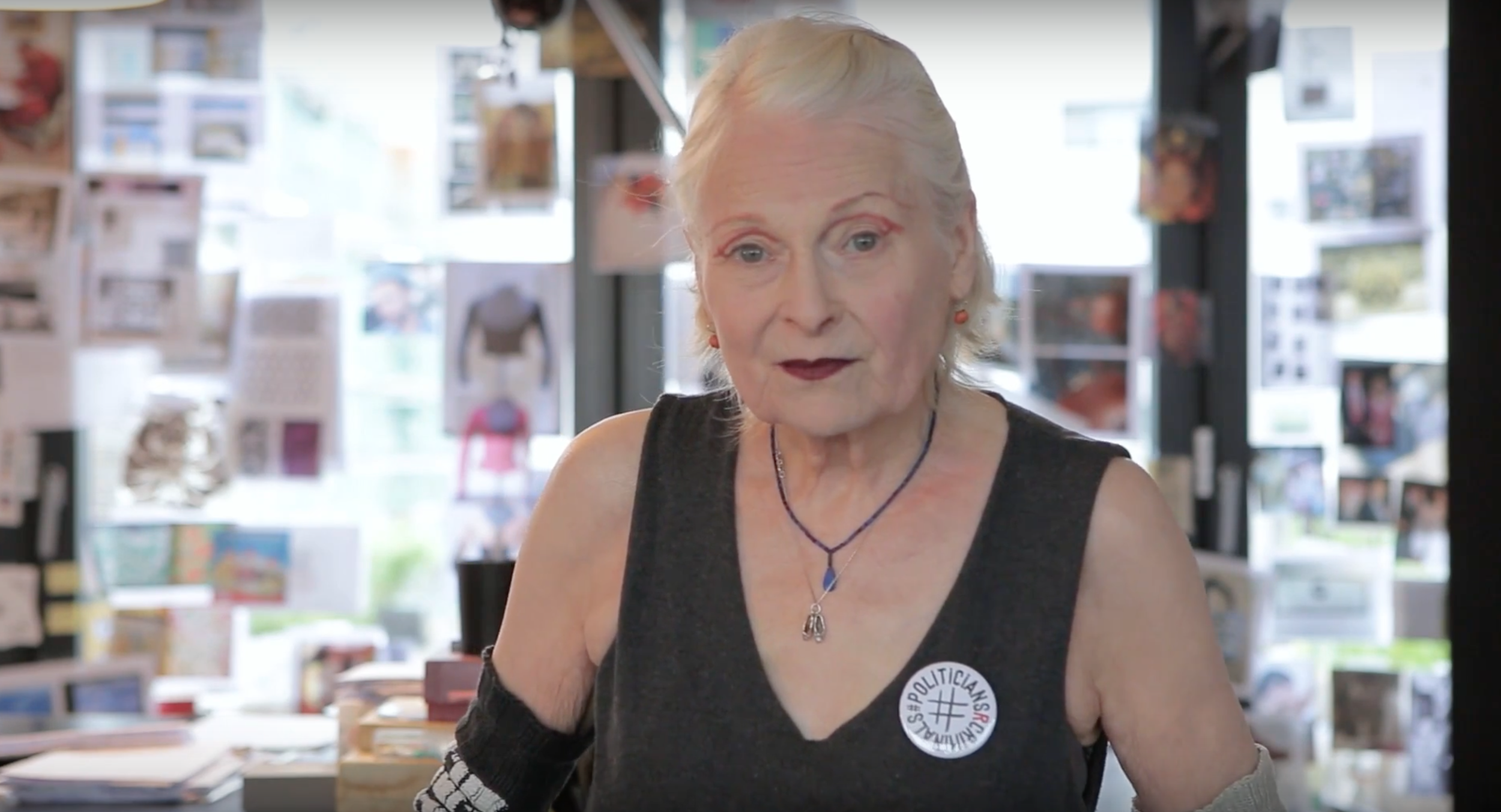Vivienne Westwood supports Julian Assange.