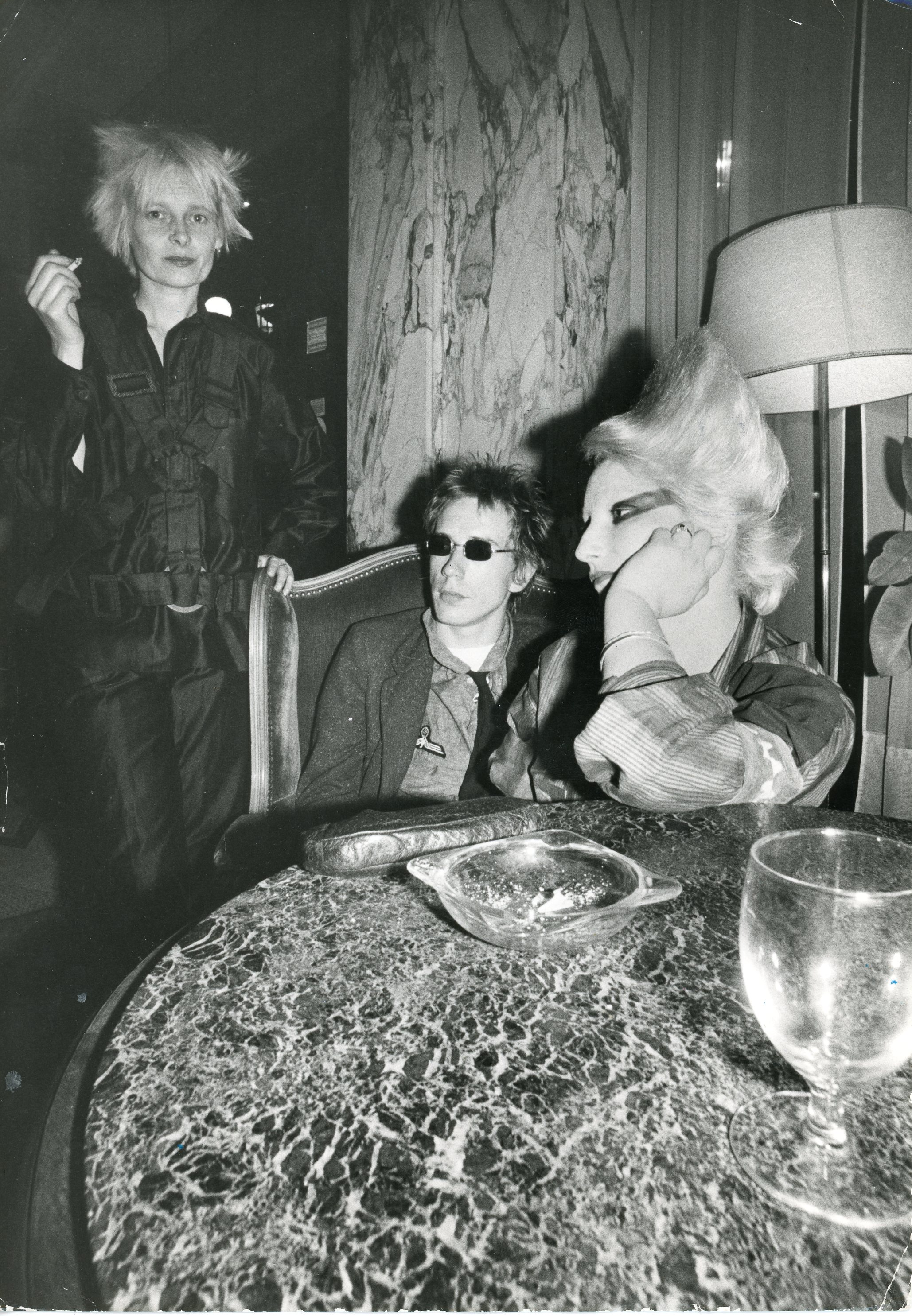 Vivienne Westwood, Johnny Rotten, and Jordan 1970s © Ray Stevenson. Courtesy of Rex Shutterstock.
