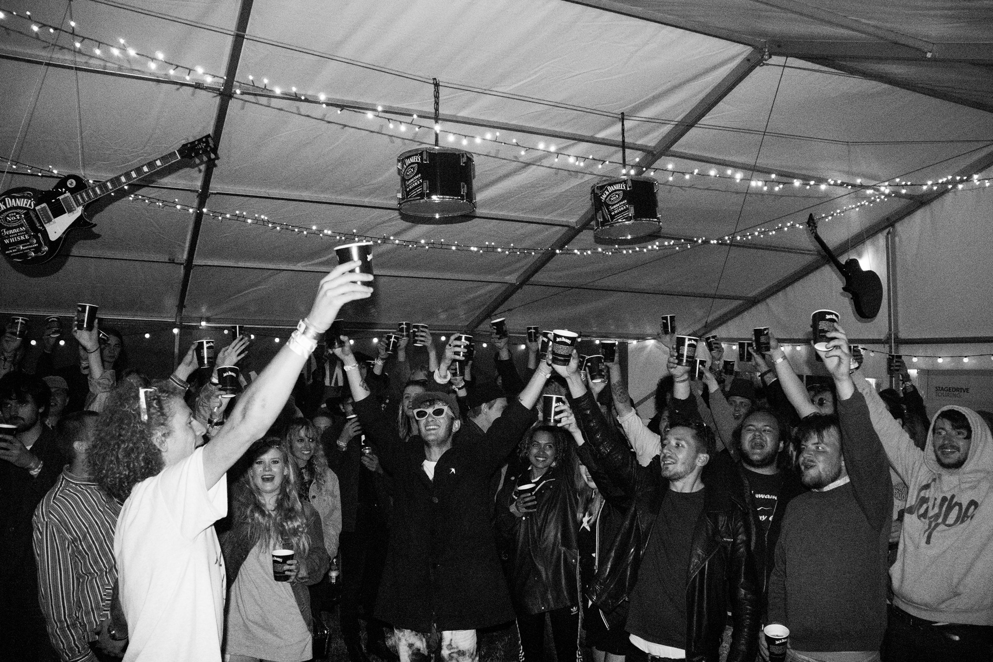 Backstage antics at Y Not Festival.