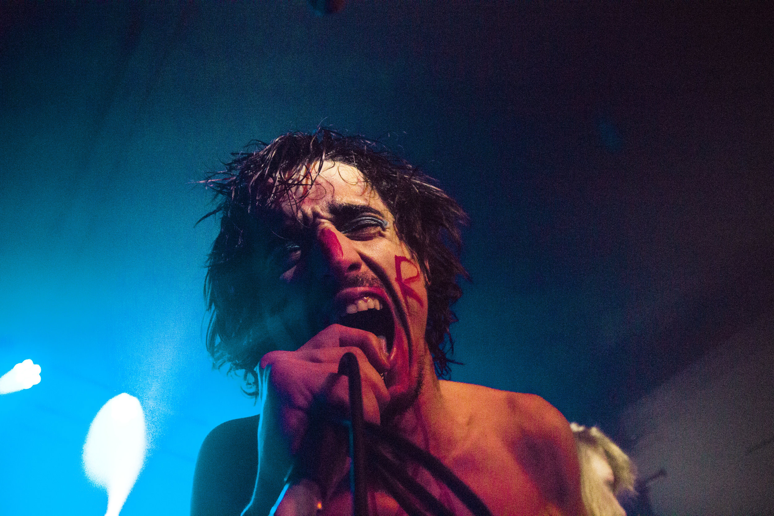 Lias Kaci Saoudi of Fat White Family & The Moonlandingz shot by Katie Willoughby.