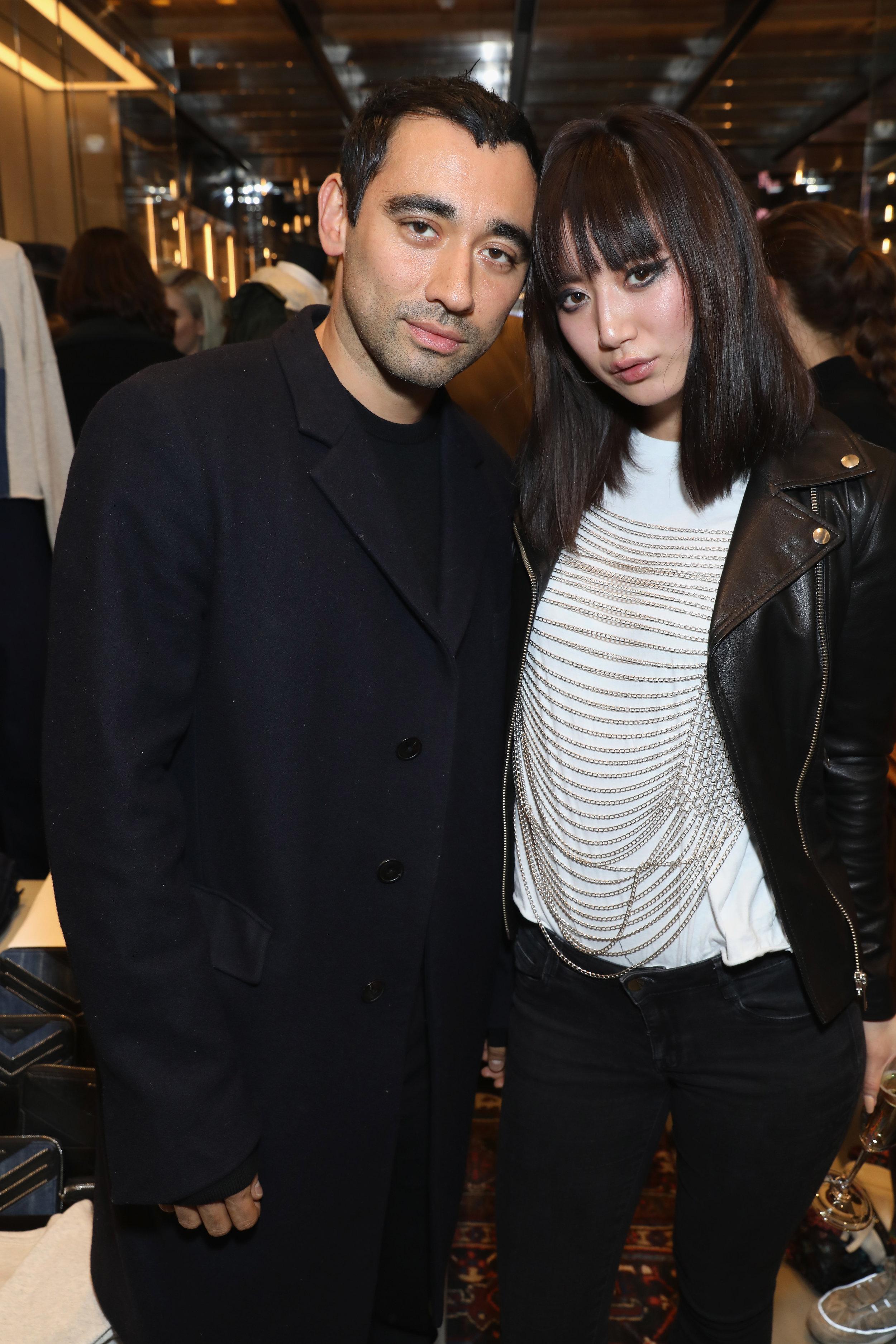 Diesel's Creative Director Nicola Formichetti with Betty Bachz.