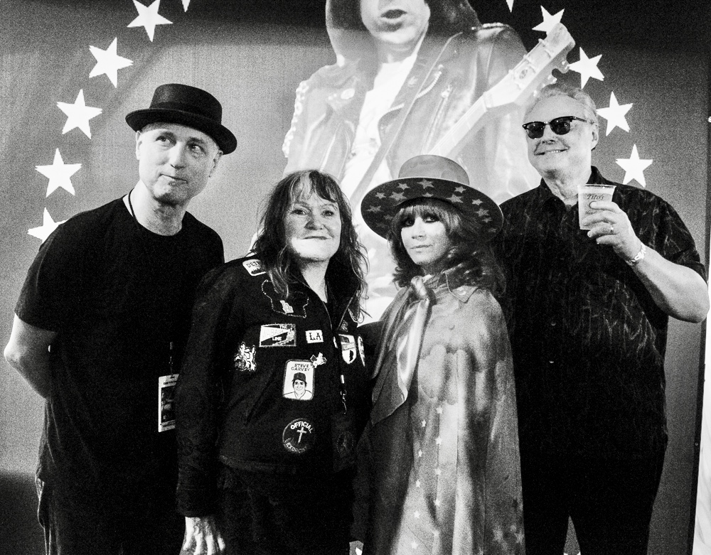 Exene, Linda Ramone and Billy Zoom.
