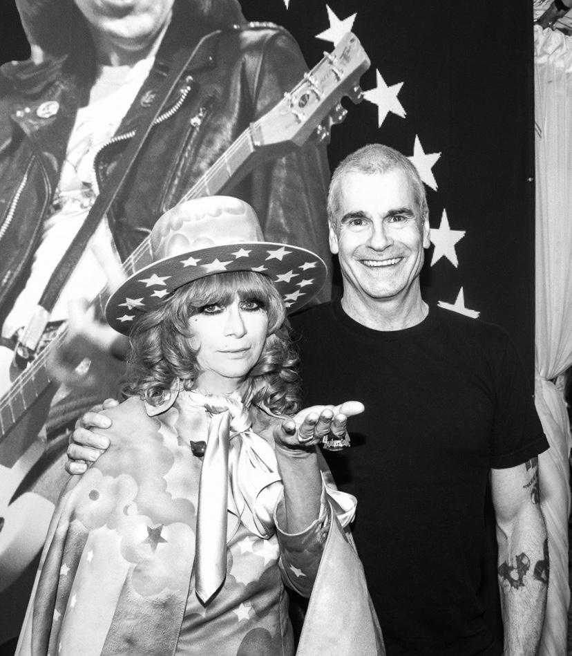Linda Ramone and Henry Rollins.