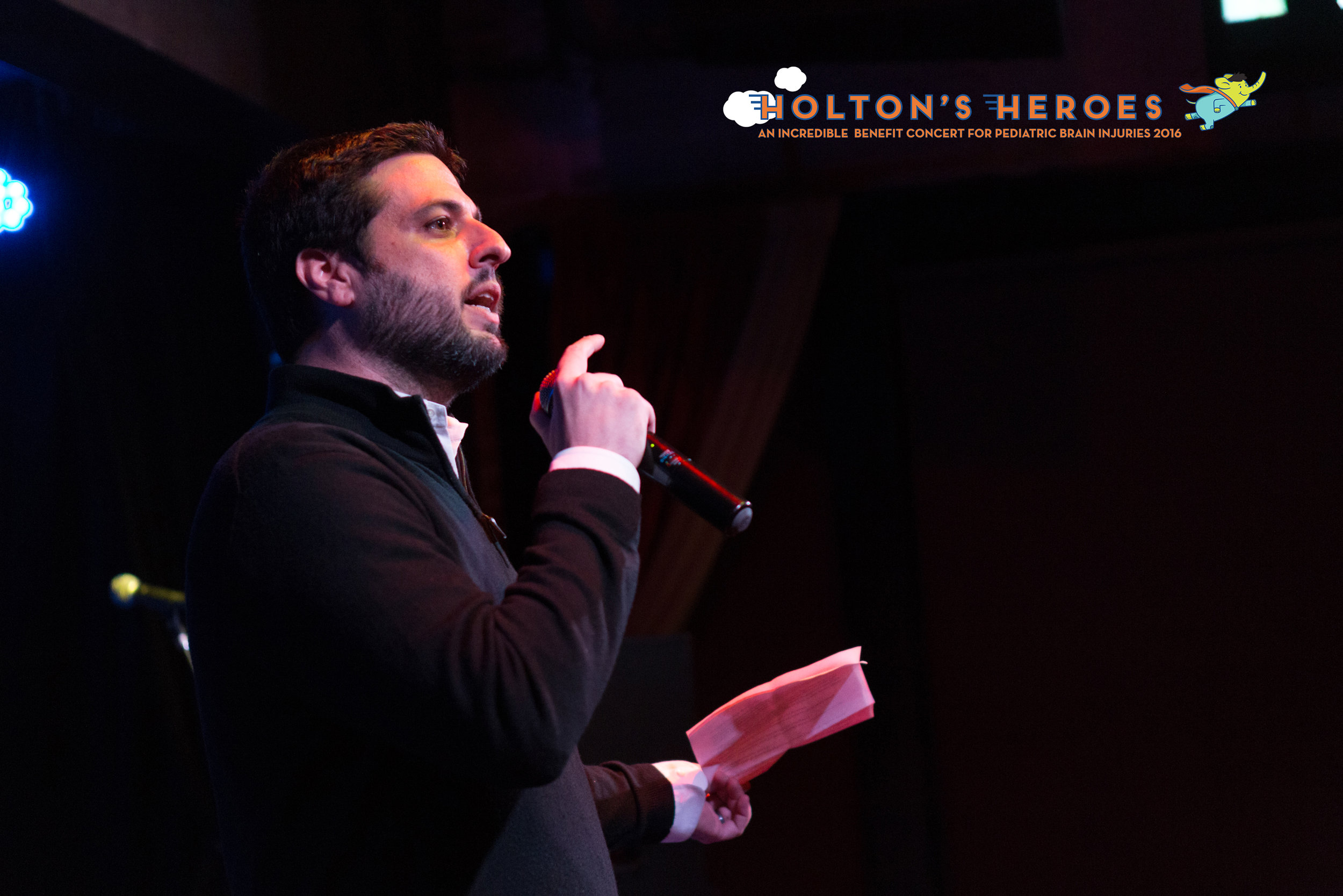 Founder Eric Weingrad speaks to the crowd.  Photo by Chyna Photography