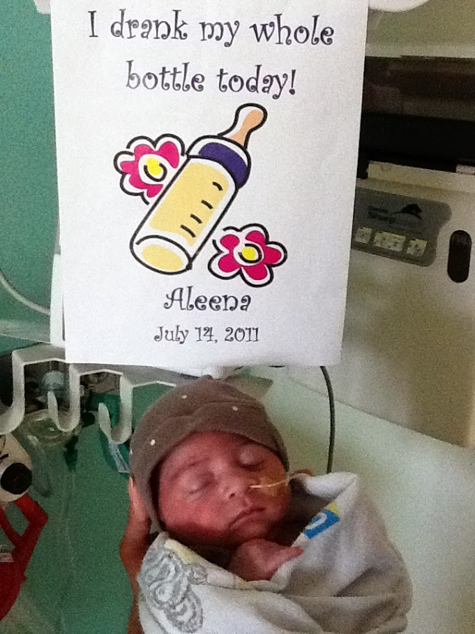 Aleena as a newborn