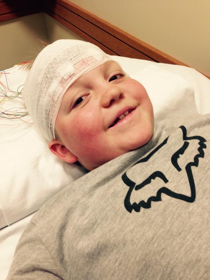 Owen getting an EEG study done