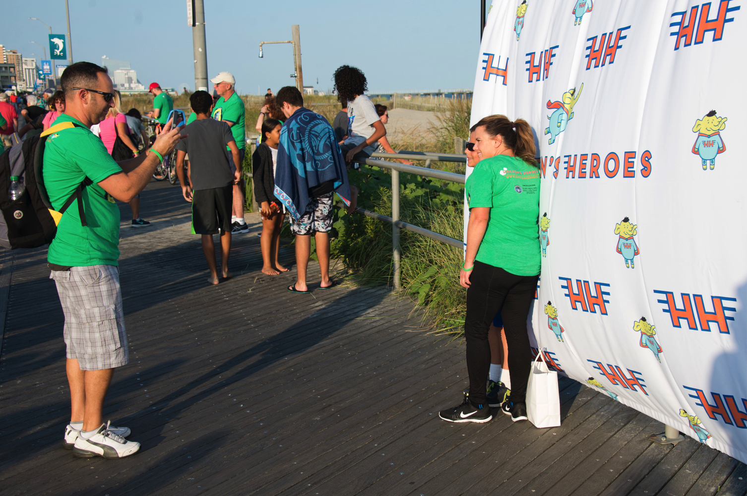 Take some photos in front of the Holton's Heroes step & repeat sign