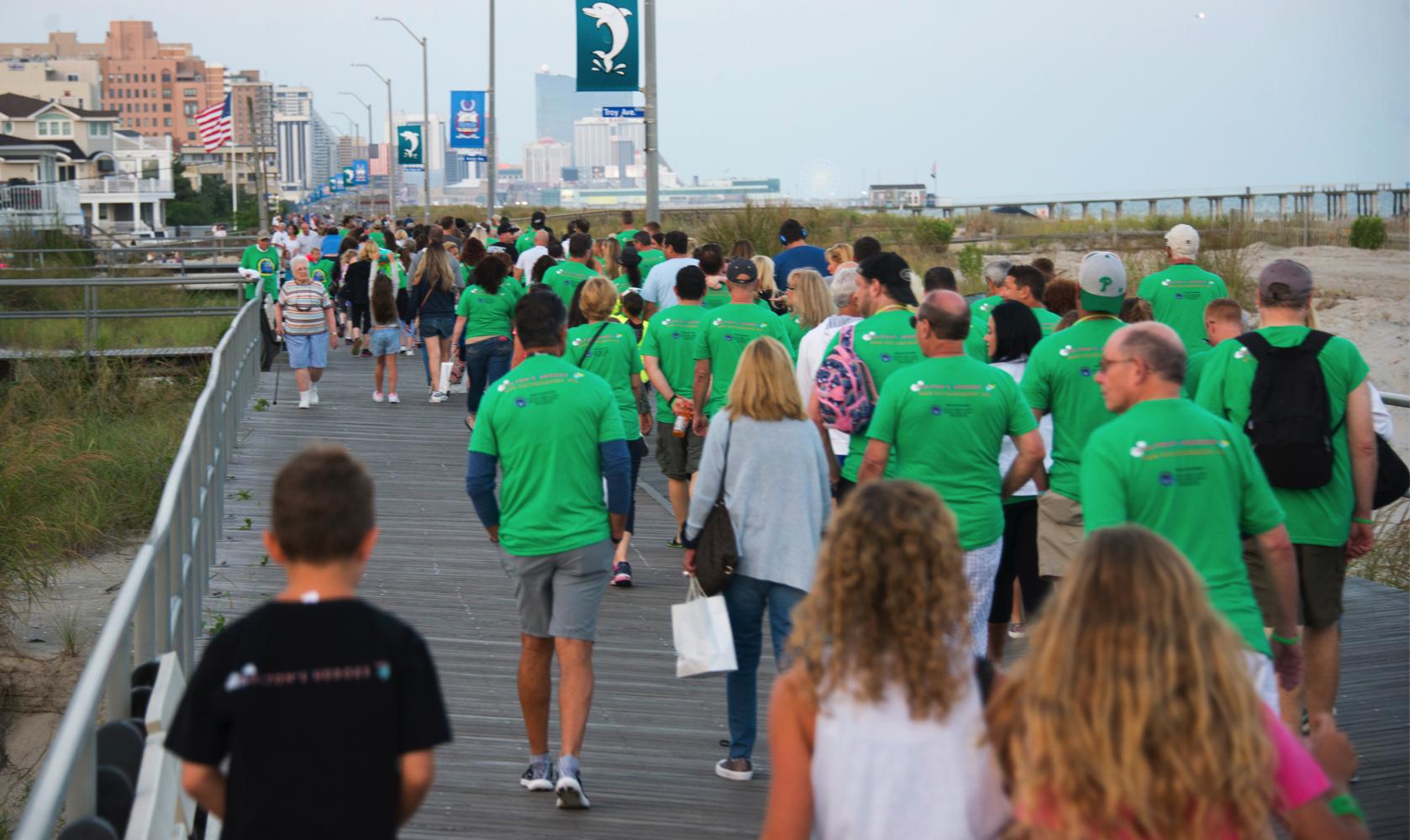 A sea of green took over the Ventnor boardwalk!