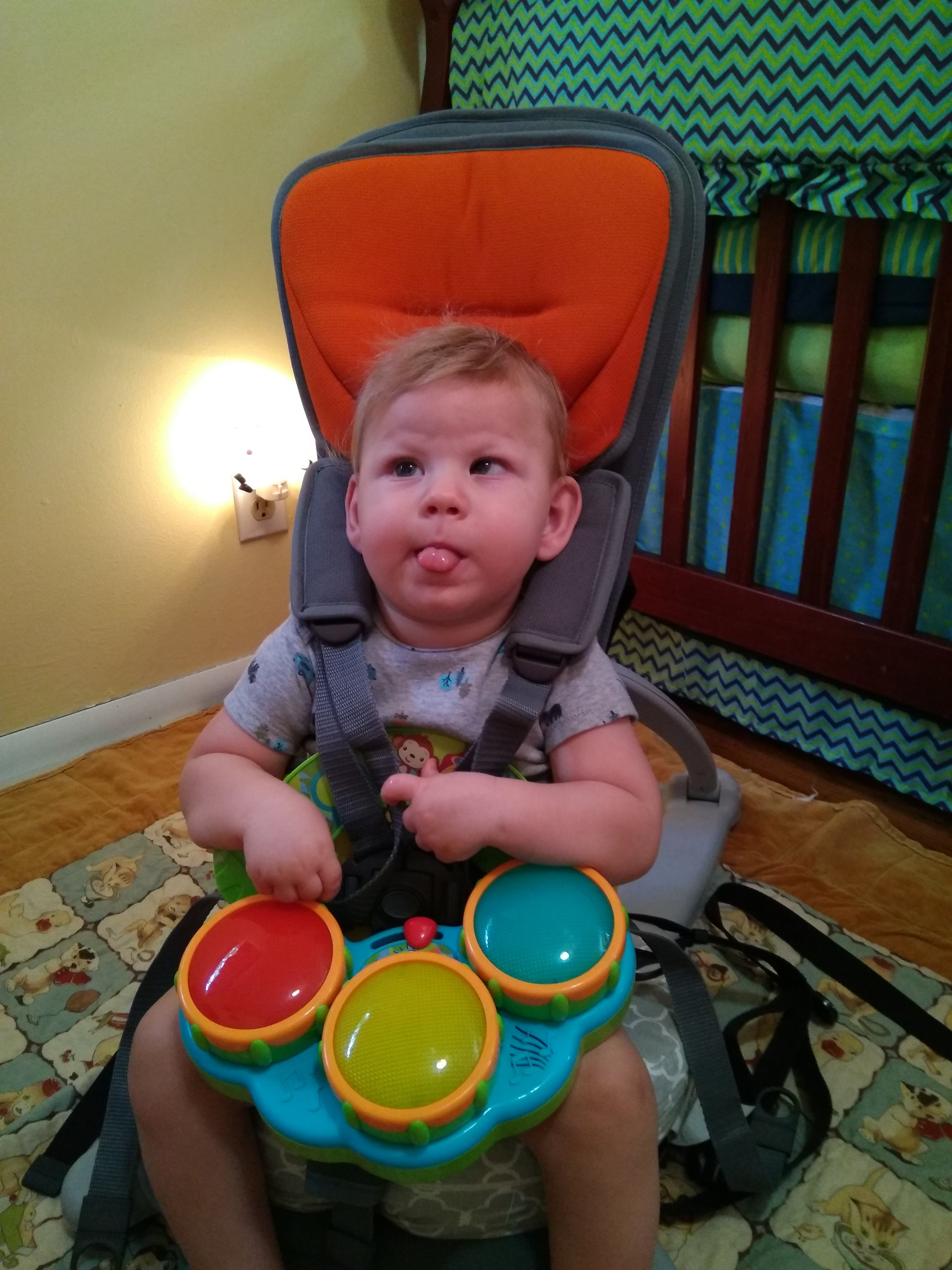 Liam and a Sensory Toy in GoTo Chair