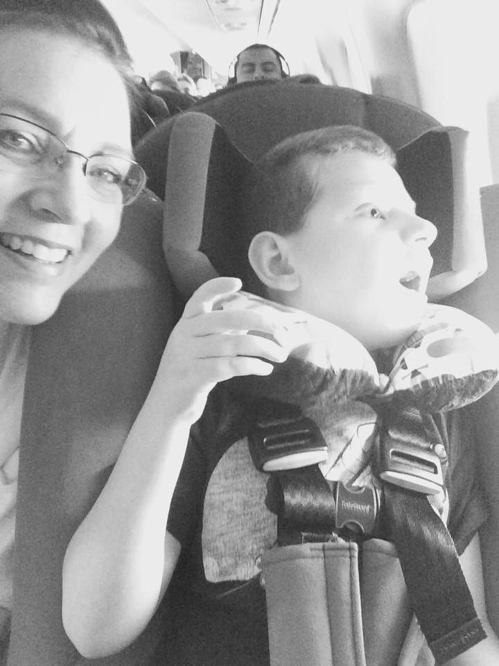 Carter and Mommy (w/ New Car Seat)