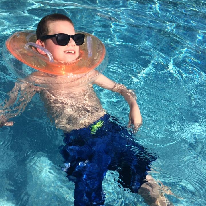 Carter in the Pool