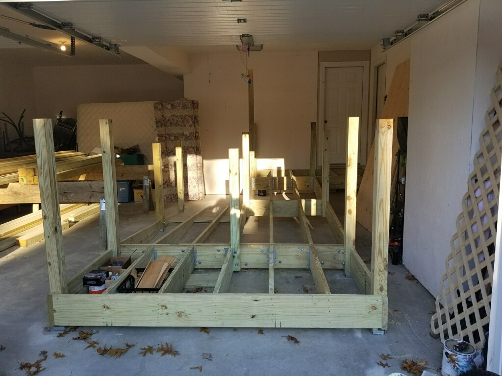 Ramp being built