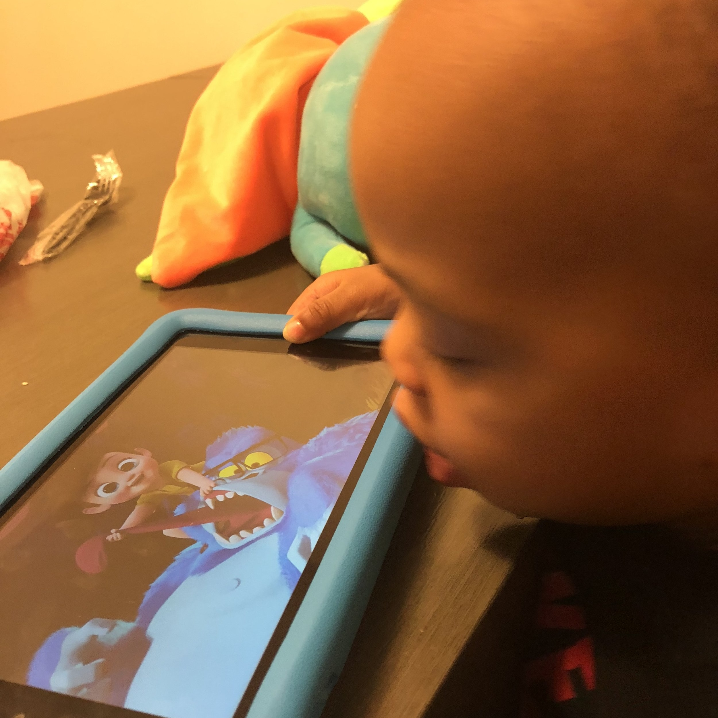 Warming up the new Amazon Fire for Kids.