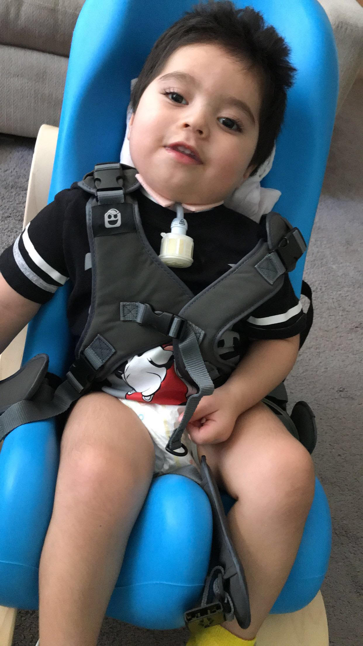 Elijah in His New Chair!