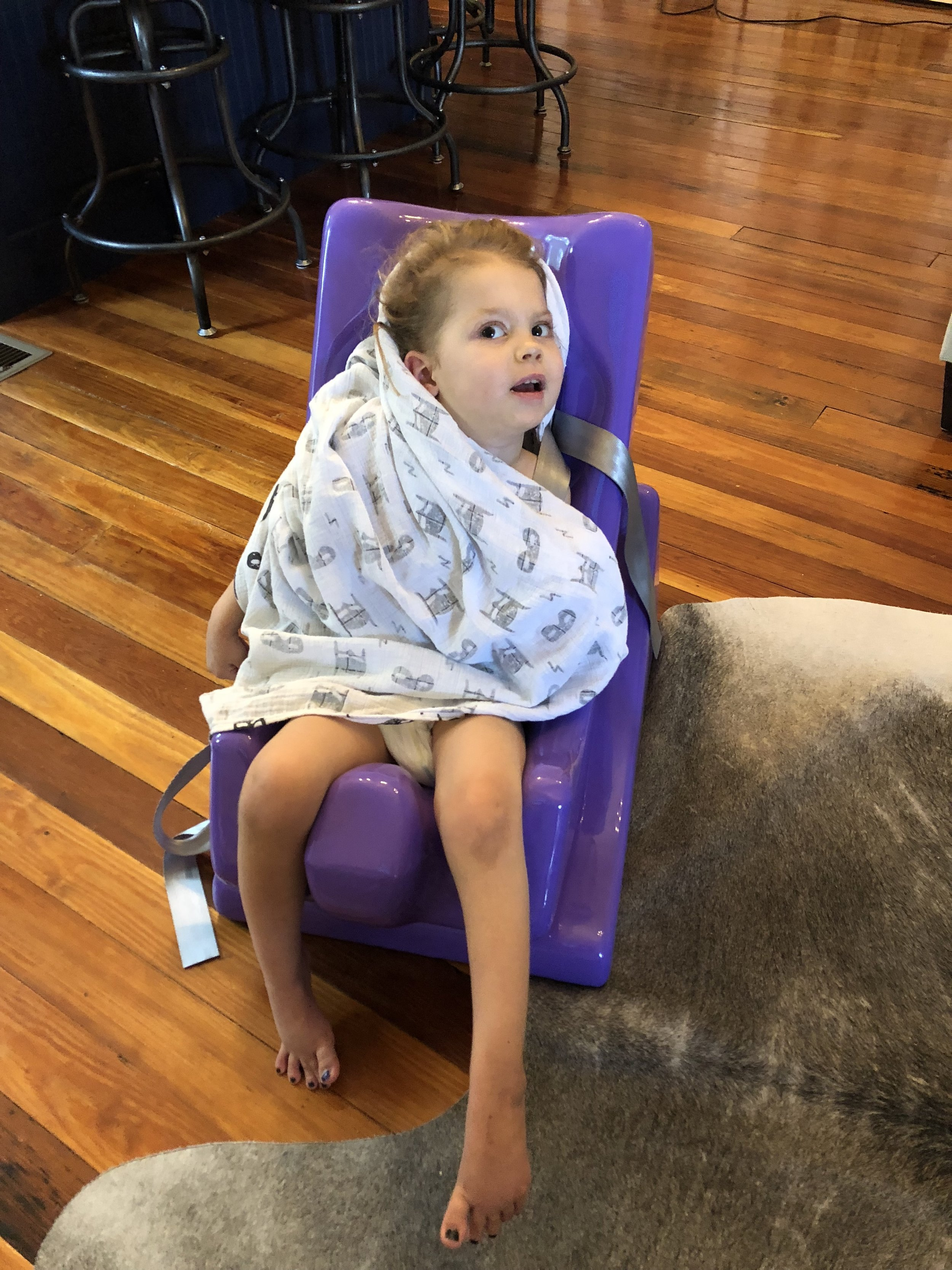 Berk in new chair from Holton's Heroes