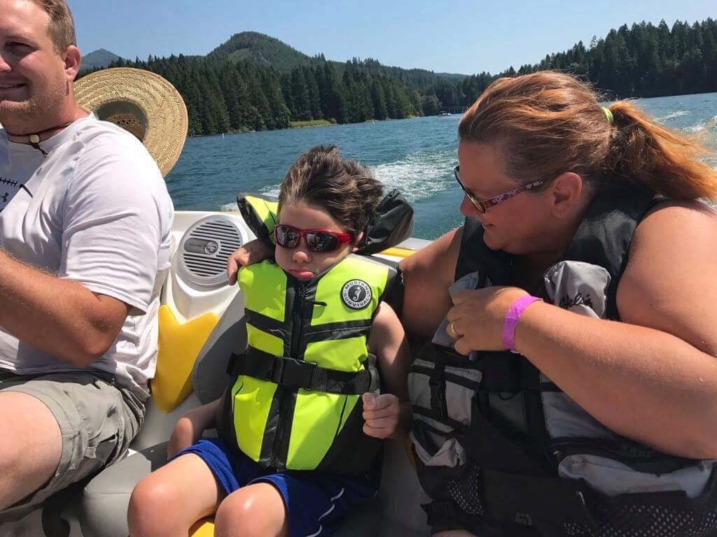 Gabe Enjoying a Boat Ride
