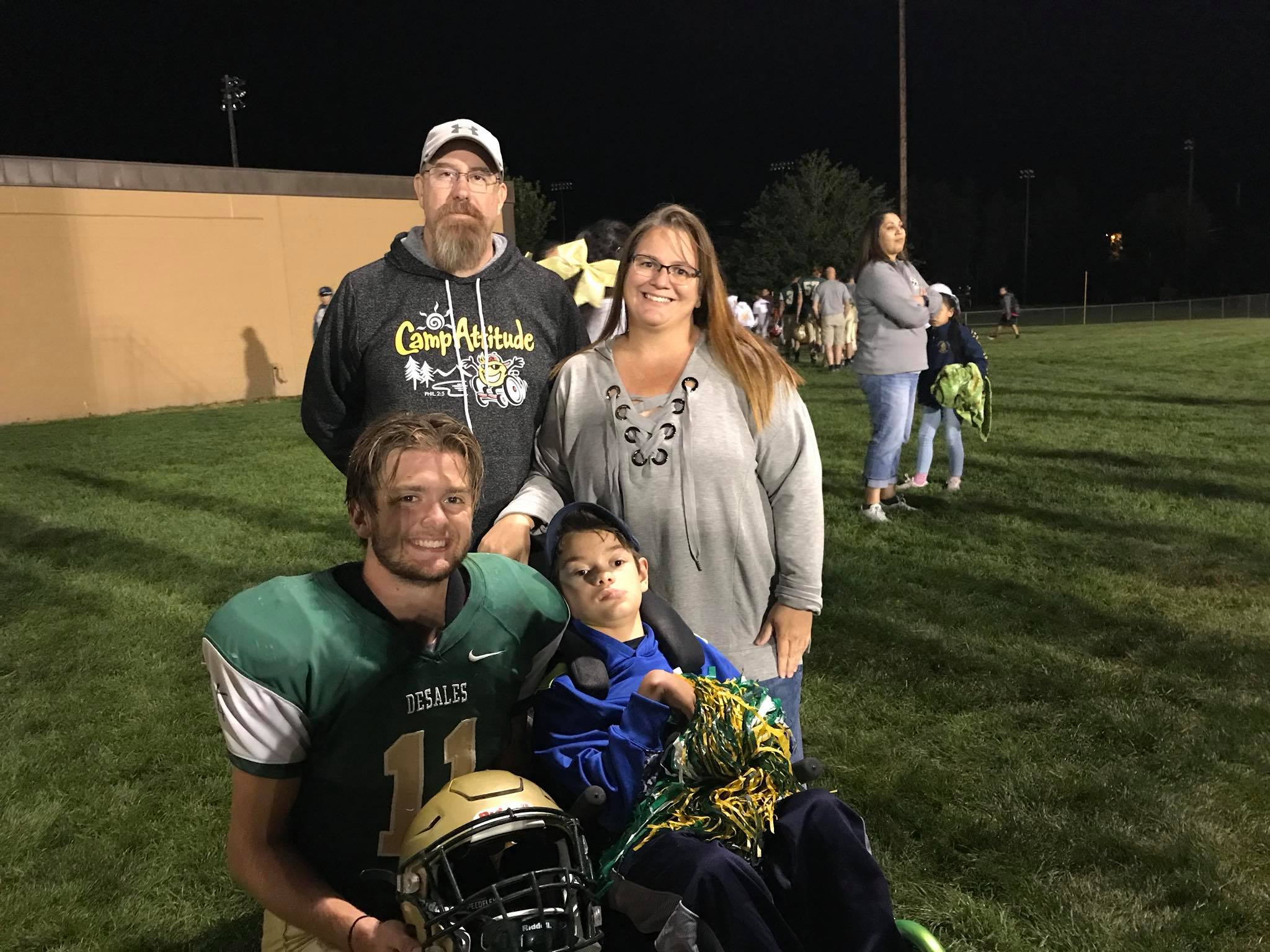 Gabe, his parents and big brother