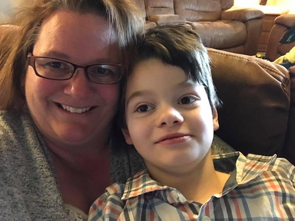 Gabe and Tonya, his mom