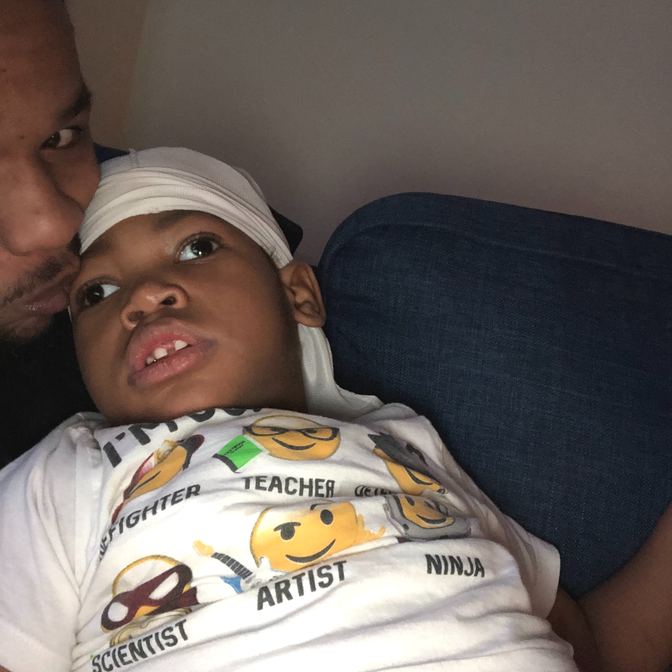 Zahir and his father snap a selfie
