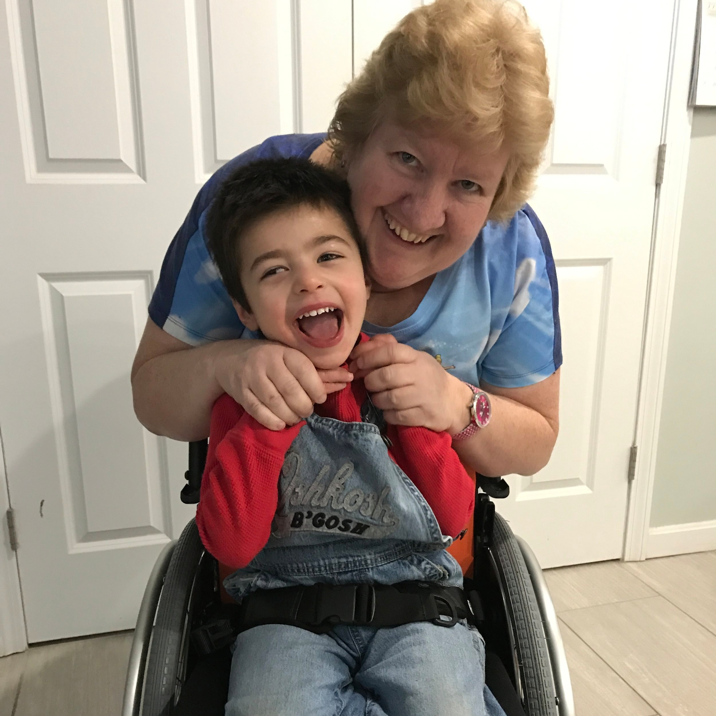 Noah with his mom Laurie