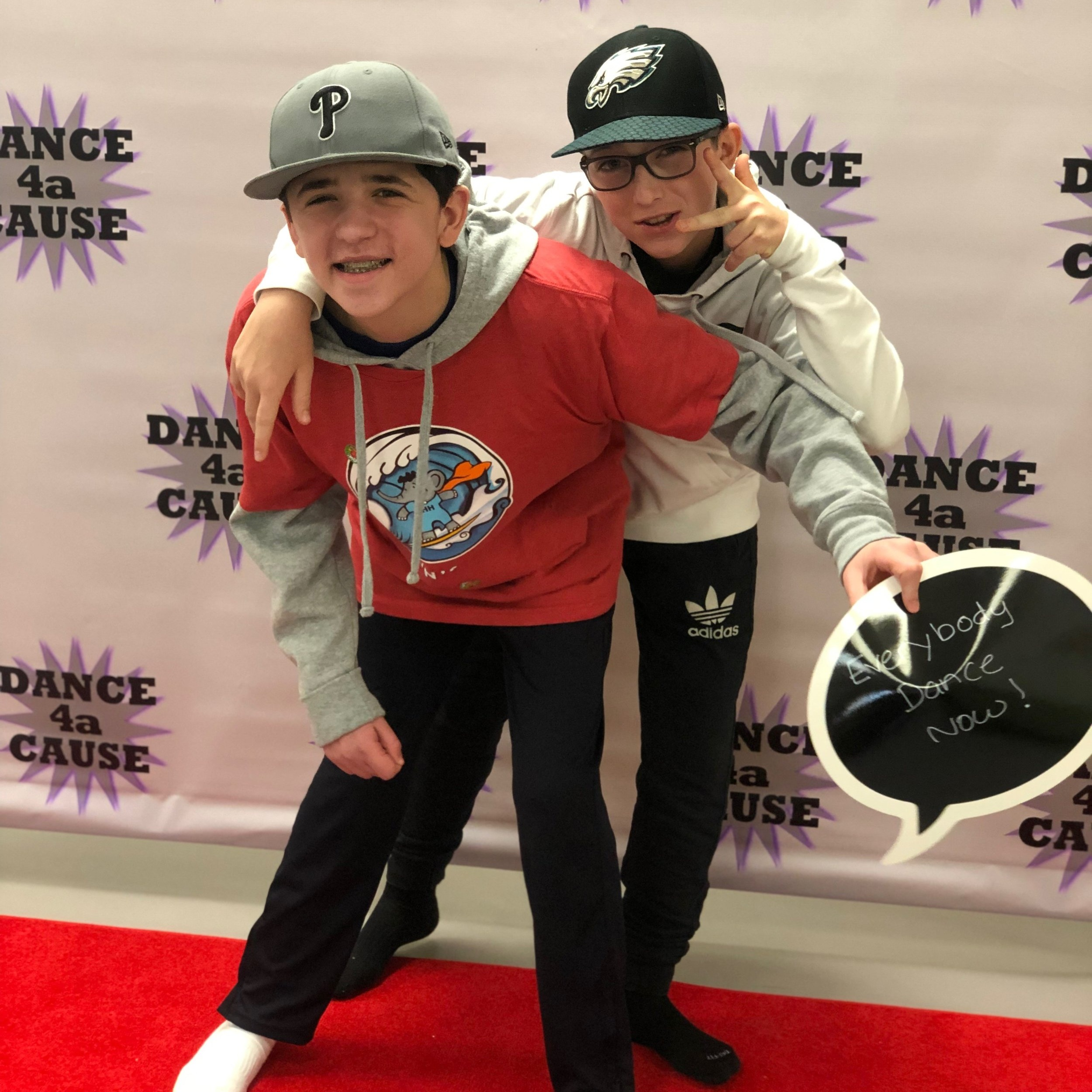 Chase and Sam at a Holton's Heroes dance event for special needs kids.