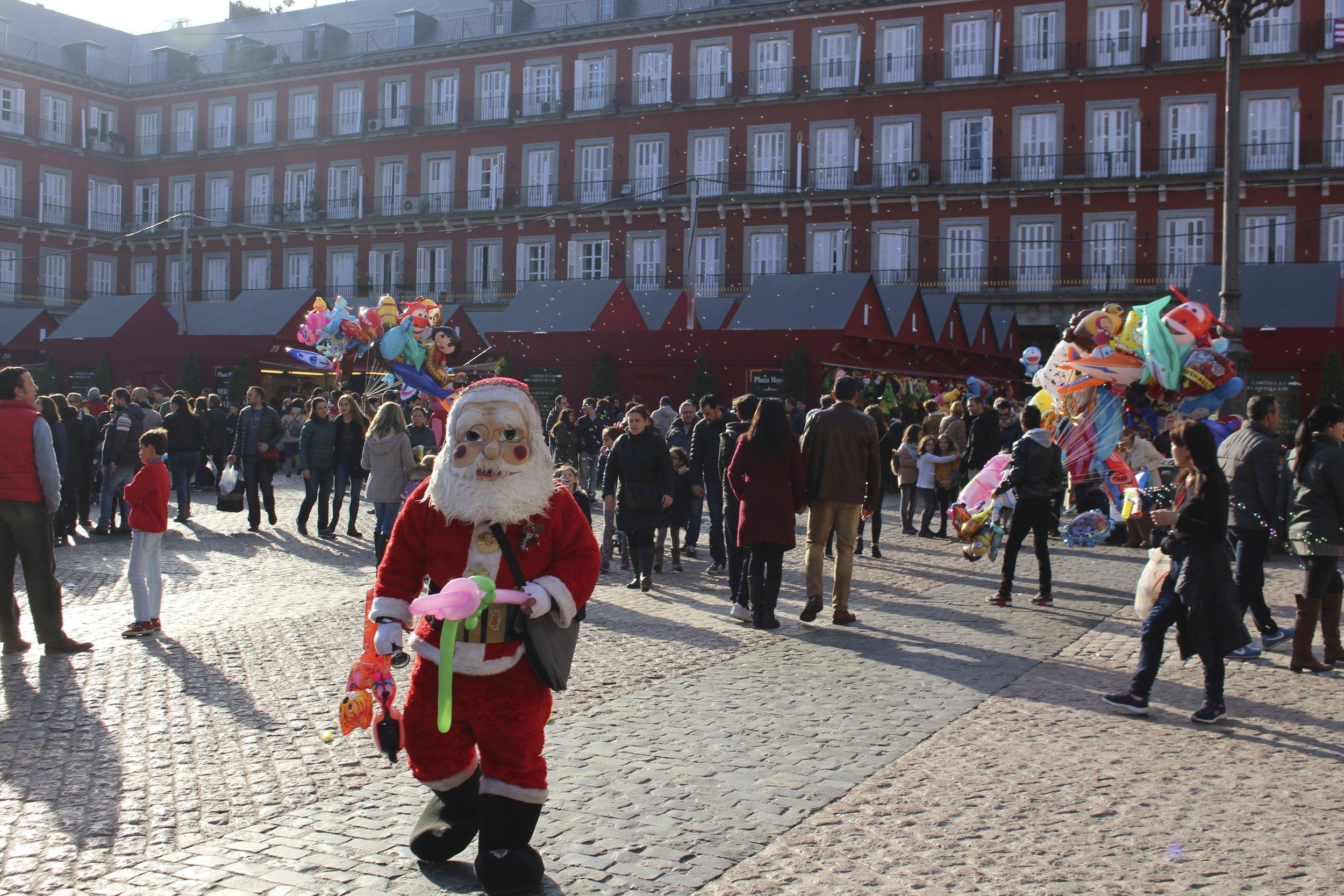 Père Noël en vadrouille, Madrid