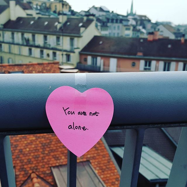You are not alone ❤ #stopsuicide #notalone #youmatter