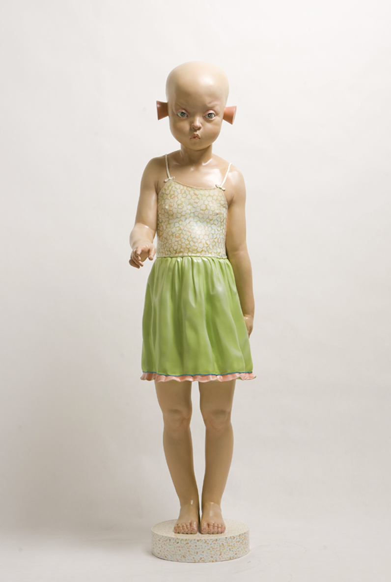 """What's up? Somewhere in time""   Sculpture, Fiberglass   Limited edition, No. 6 of 8   173 x 45 x 60 cm   2010"