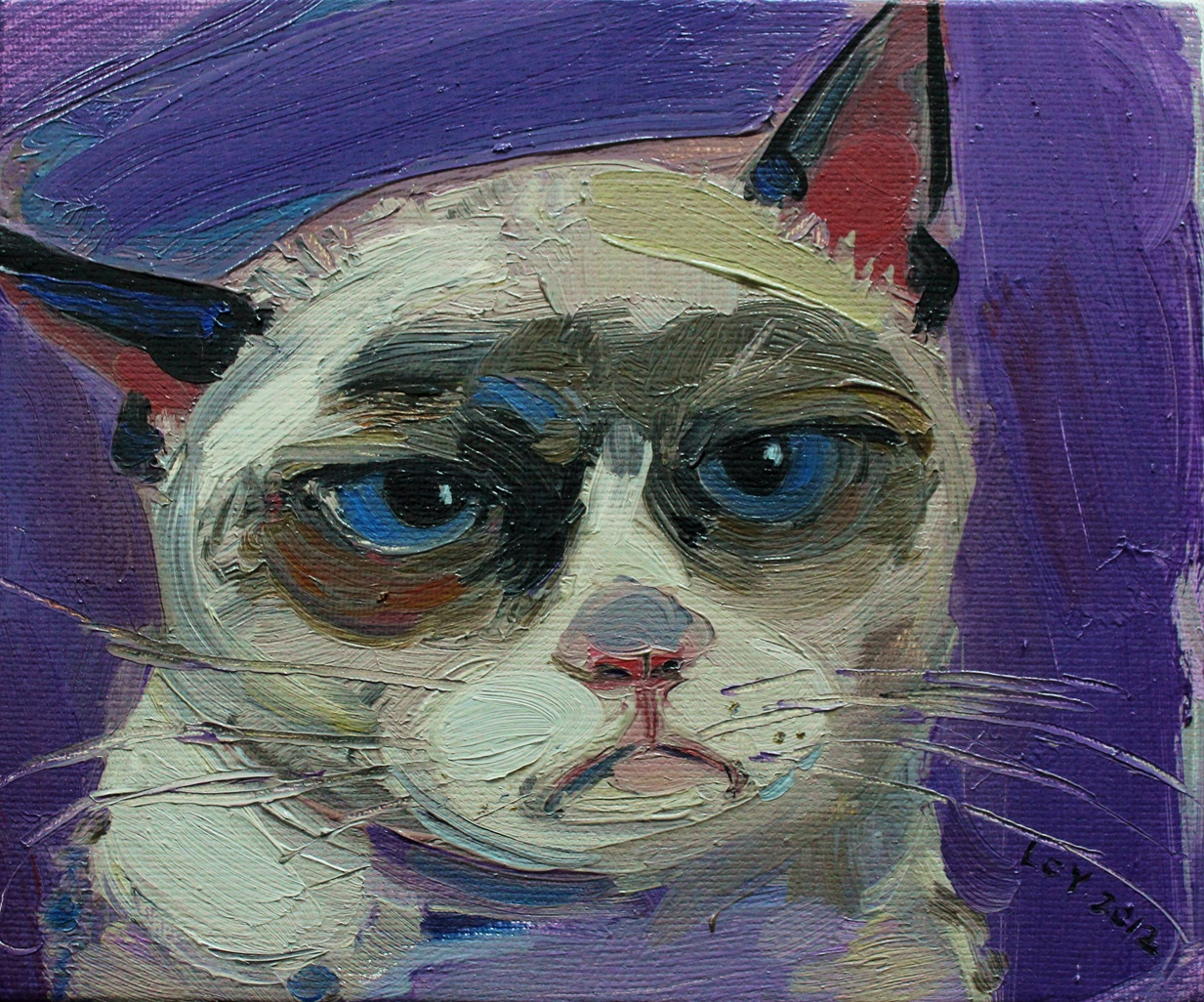 """Cat"" Oil on Canvas 30 x 26 cm 2013"
