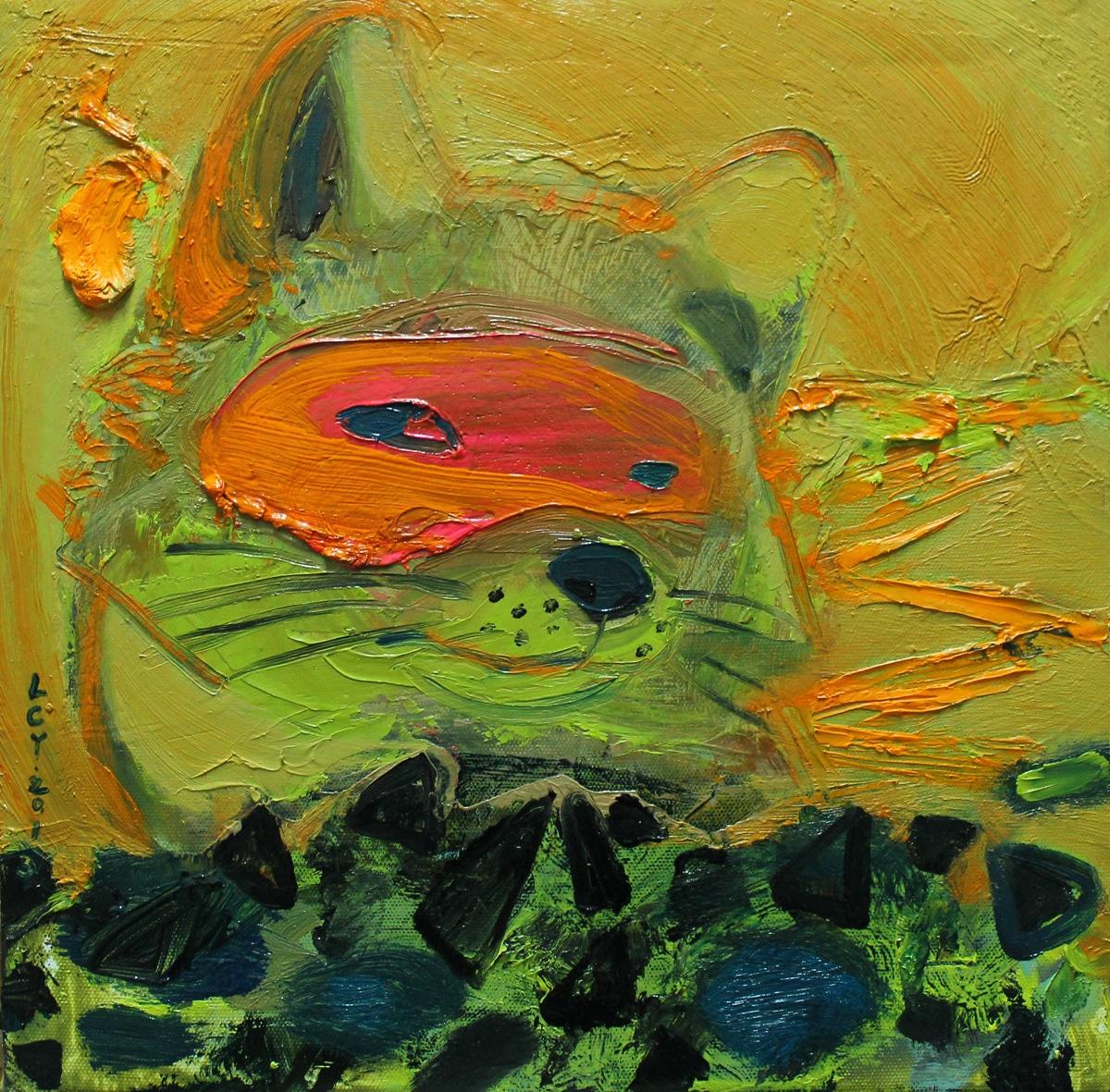 """""""Fox"""" Oil on Canvas 30 x 26 cm 2013"""