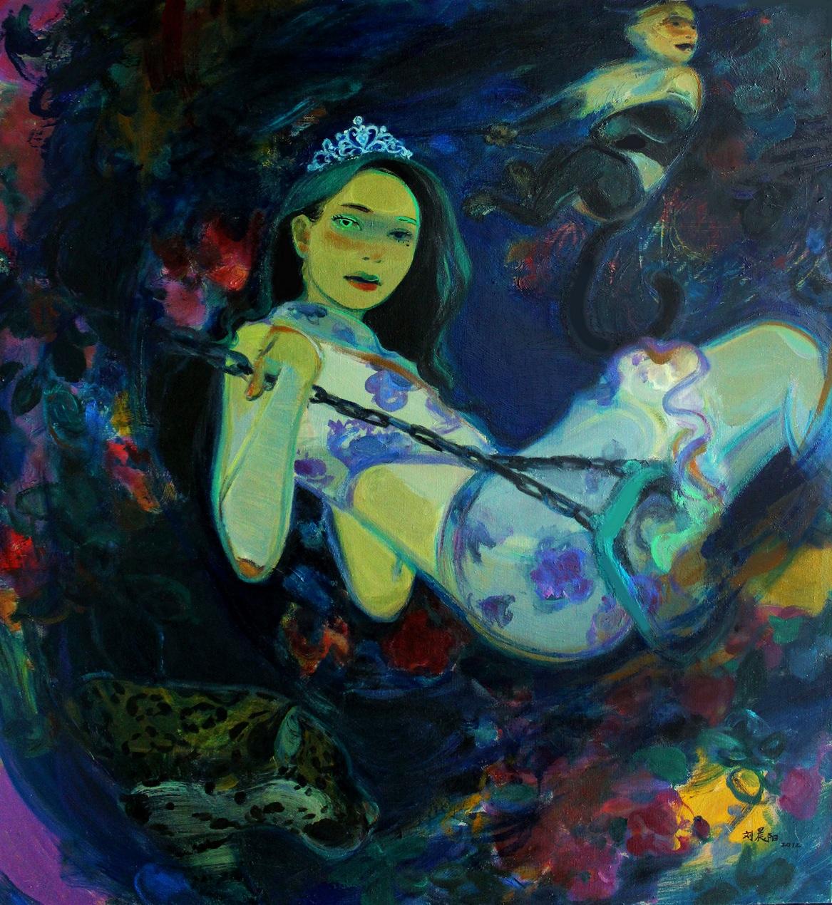 """Princess"" Oil on Canvas 120 x 130 cm 2012"