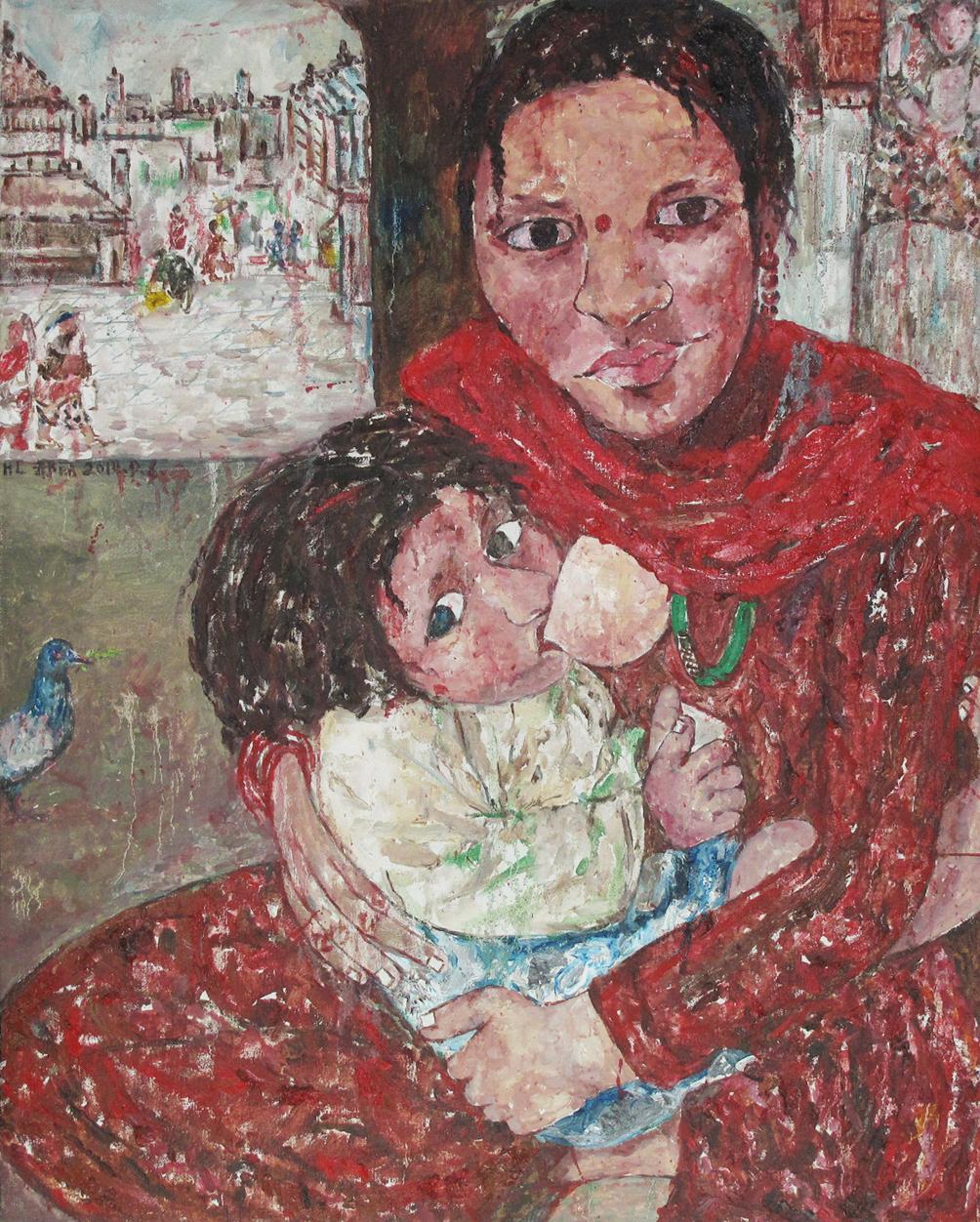 """""""Lullaby under the sun"""" Oil on Canvas 100 x 80 cm 2010"""