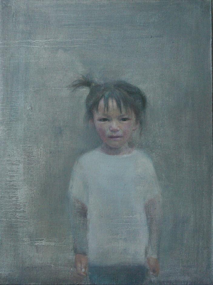"""Little Tibetan Girl""   Oil on Canvas   30 x 40 cm   2011"