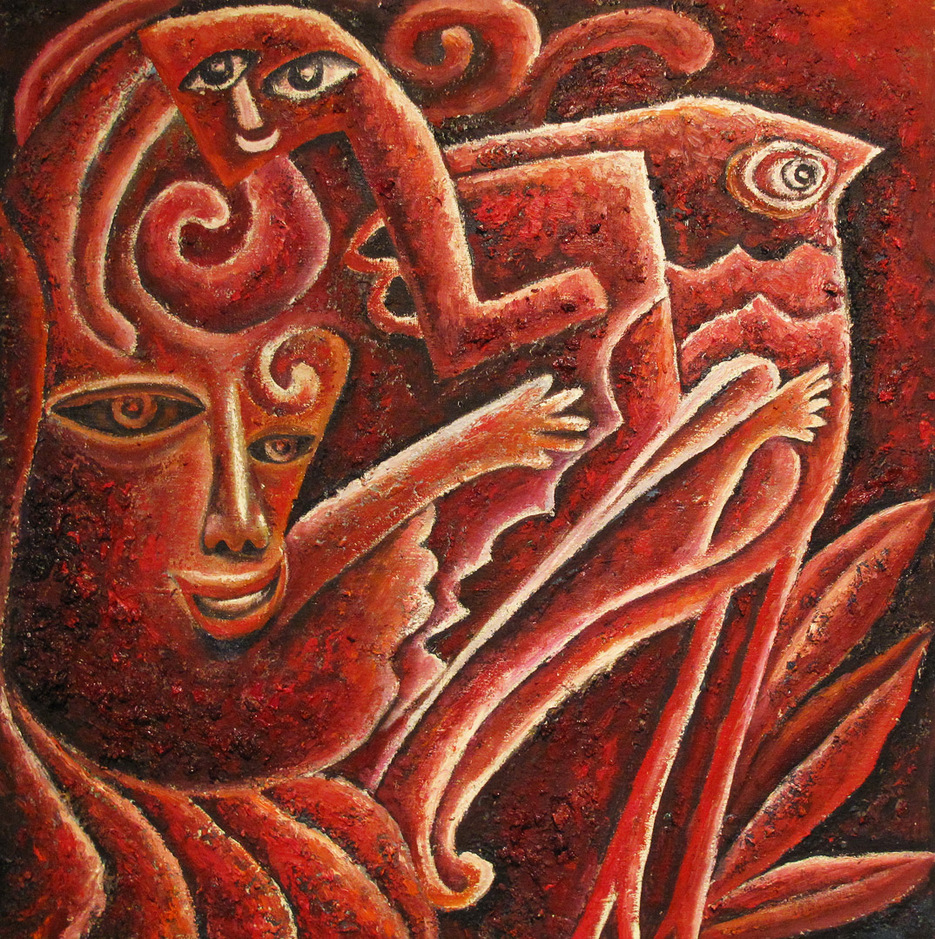 """Fairy Tale 2"" Oil on Canvas 45 x 46 cm 2011"