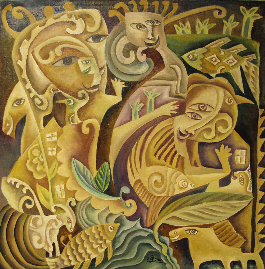 """Fairy Tale 4"" Oil on Canvas 45 x 46 cm 2011"