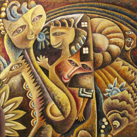 """Fairy Tale 5"" Oil on Canvas 45 x 46 cm 2011"
