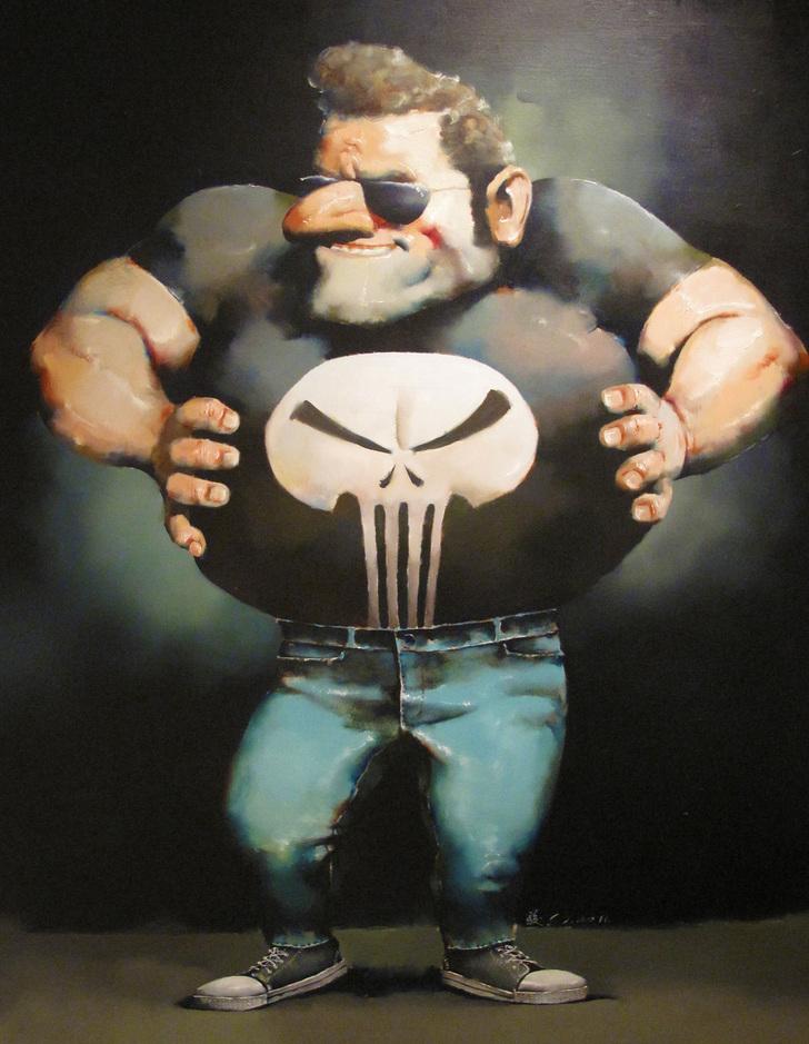 """Cool man 2""   Oil on Canvas   110 x 140 cm   2011"