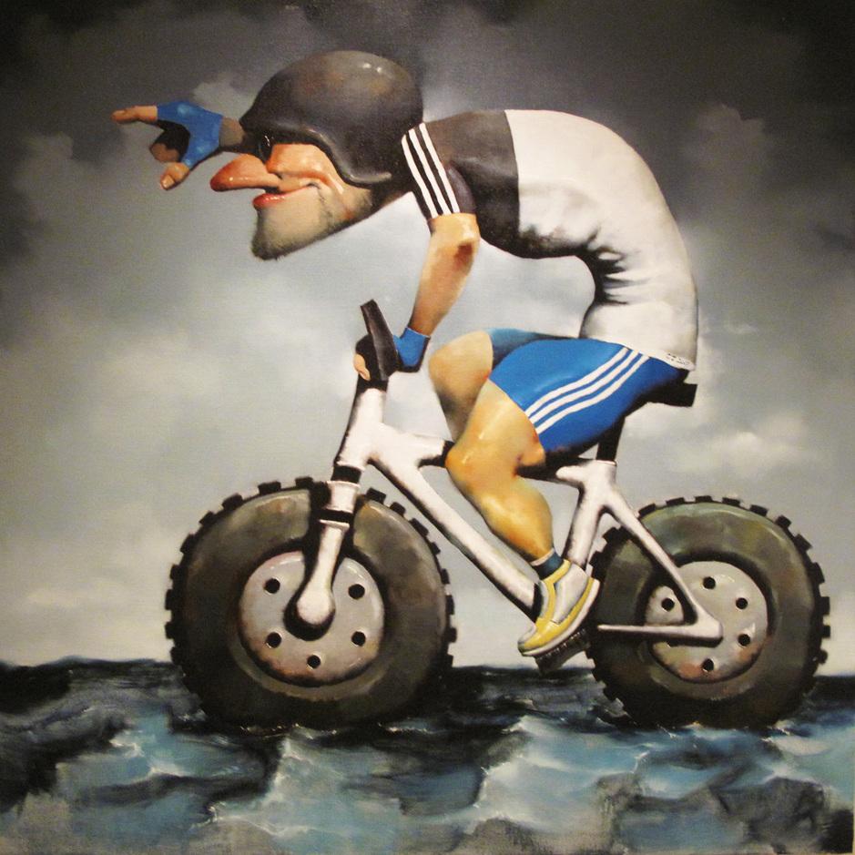 """Cool man 3""   Oil on Canvas   120 x 120 cm   2011"