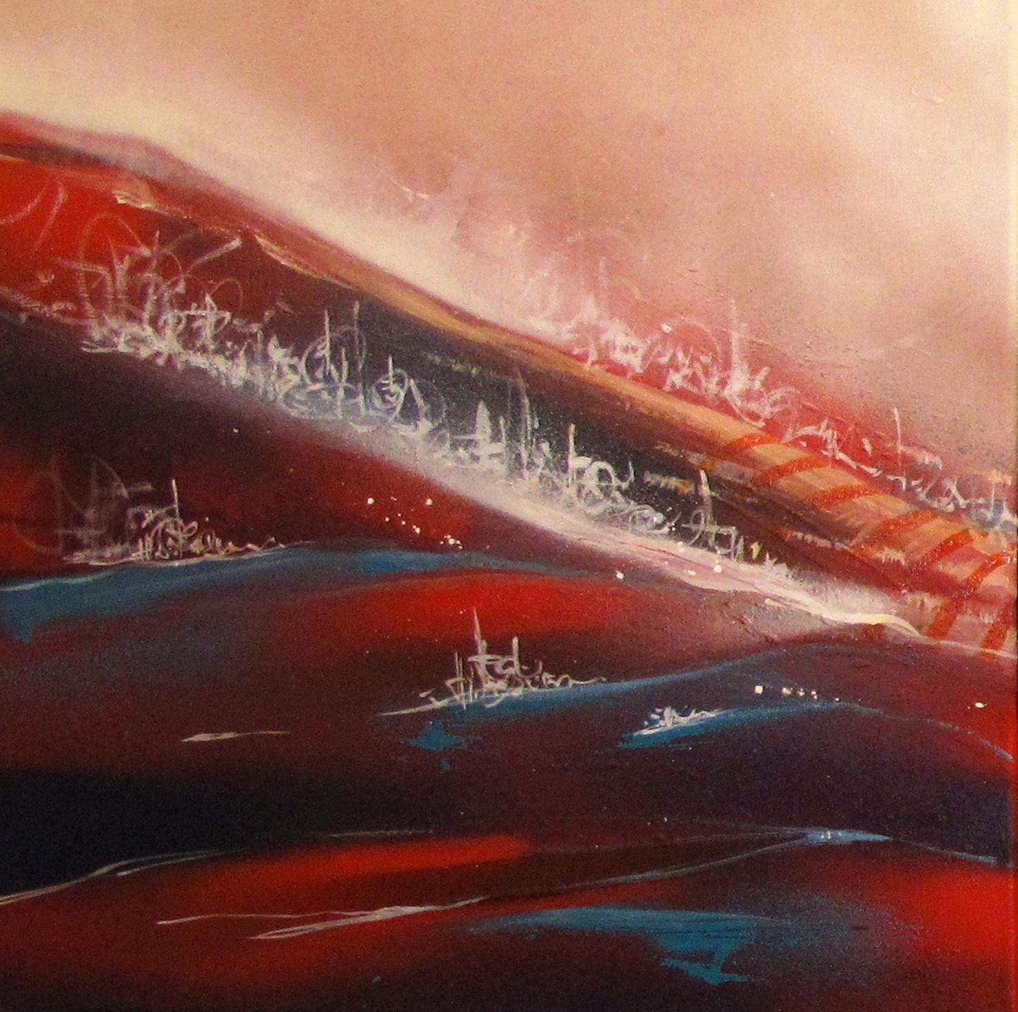 """La cité"" Acrylic & Spray A set of three paintings, each 40 x 40 cm 2013"