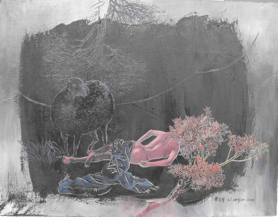 """Black magic""   Oil on Canvas   65 x 50 cm   2010"