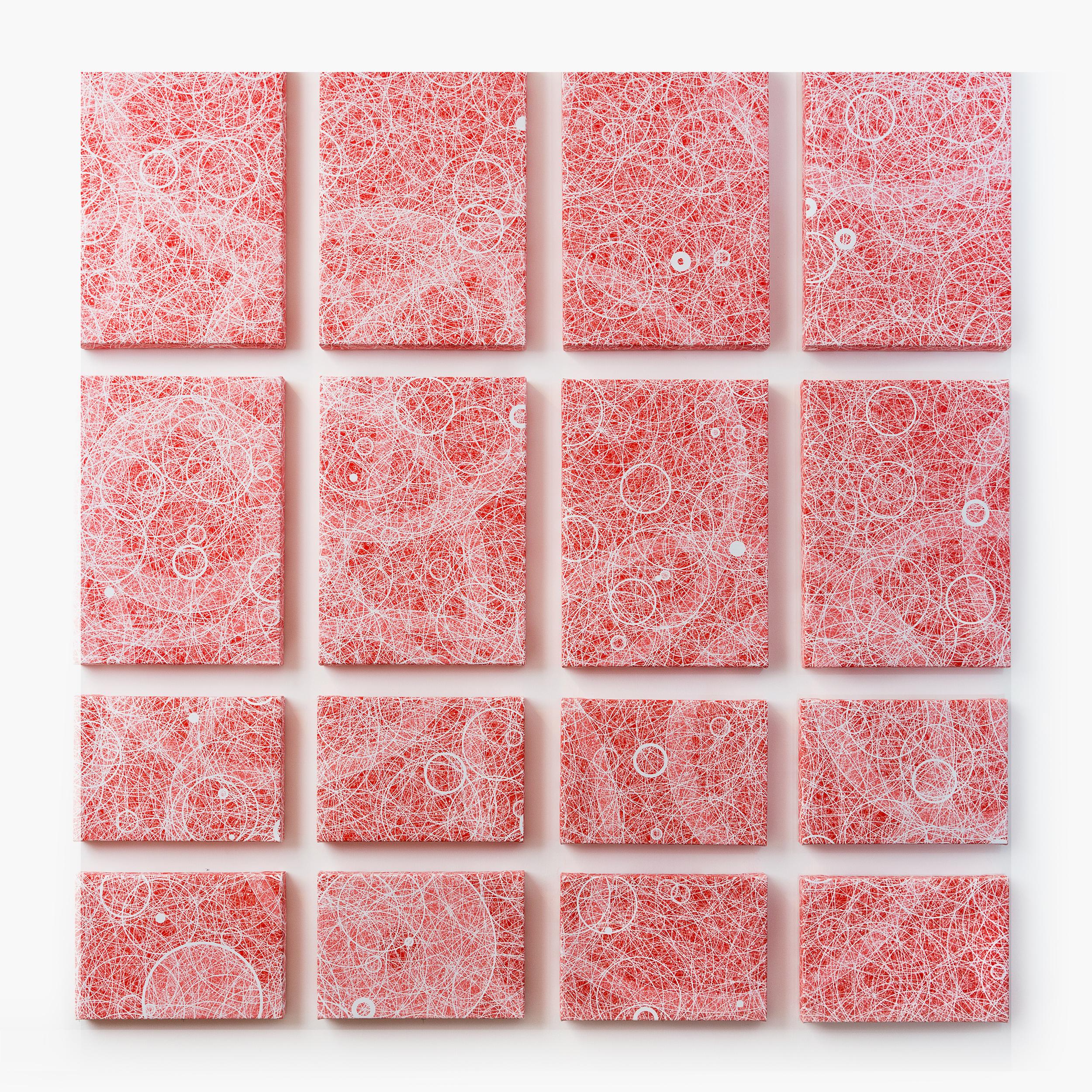 """Flatness, Wall 3""   Quadrant 1 (top left), 2 (top right), 3 (bottom left), 4 (bottom right)""   Giclée on Canvas   133.8 x 141 cm each   2015"