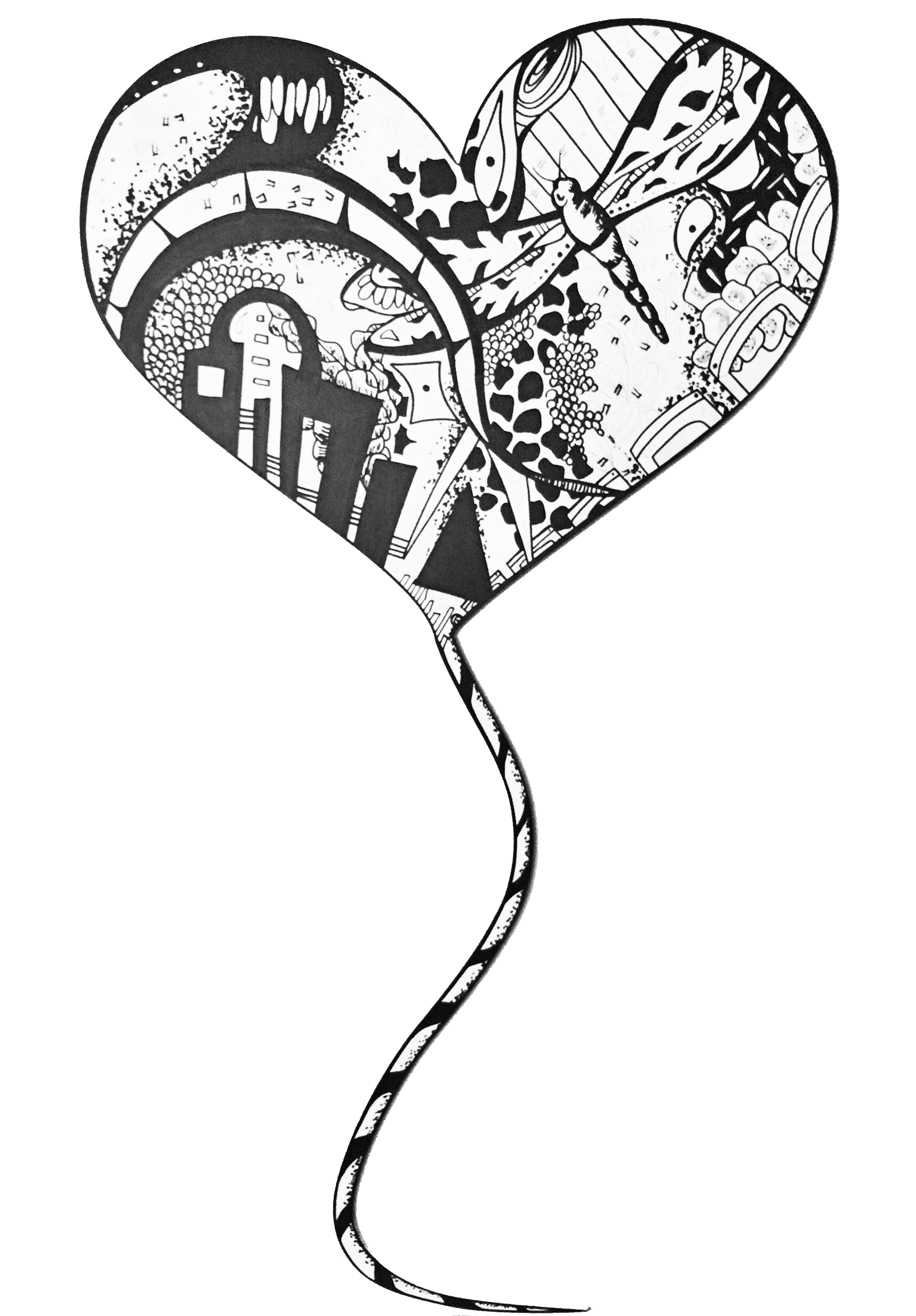 """ Heart Balloon ""   Acrylic   on wood   2016"