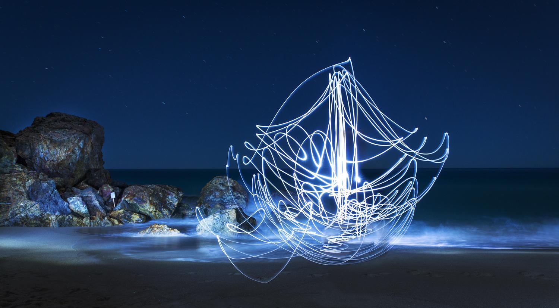 """Boat""   Light Photograph - Metal Print, Medium gloss   61 x 34 cm   Limited edition of 5   2016"