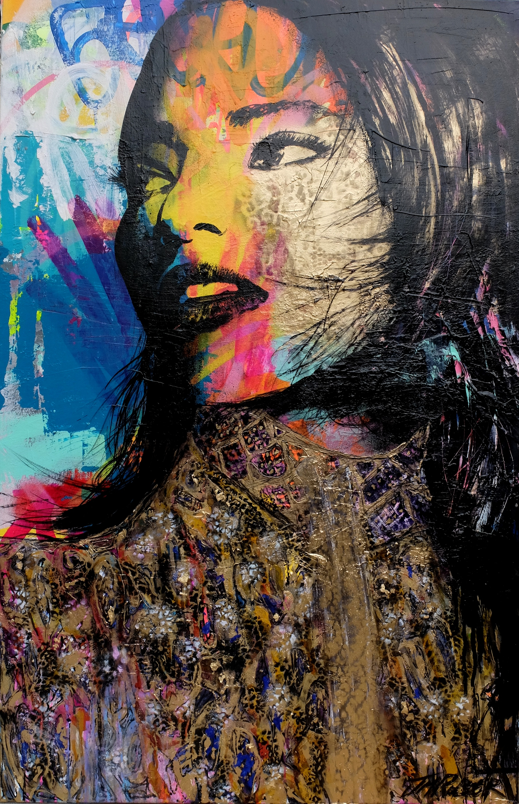 """""""Tout lui semblait possible"""" Spray, Ink, Acrylic 66 x 100 cm 2016"""